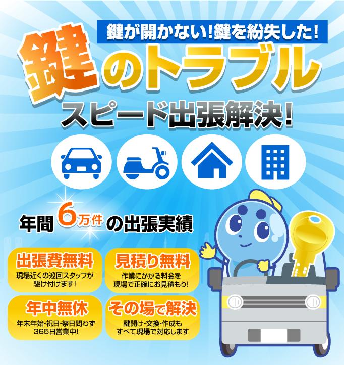 宝塚市の鍵屋カギマロ